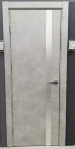 межкомнатная дверь современная дизайнерская с вертикальной полоской стекла future 53 potential doors