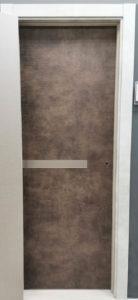 межкомнатная современная дизайнерская дверь с одной горизонтальной вставкой стекла по центру future 71 potential doors