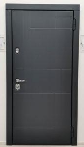 входная современная дверь steeltex шагрень антрацит Н-88 стальная линия