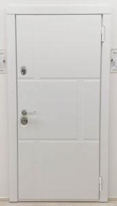 образец белой входной двери steeltex белый Н-89 стальная линия