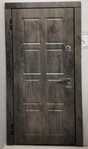 входная дверь экошпон премиум дуб йорк серый Н-40 стальная линия