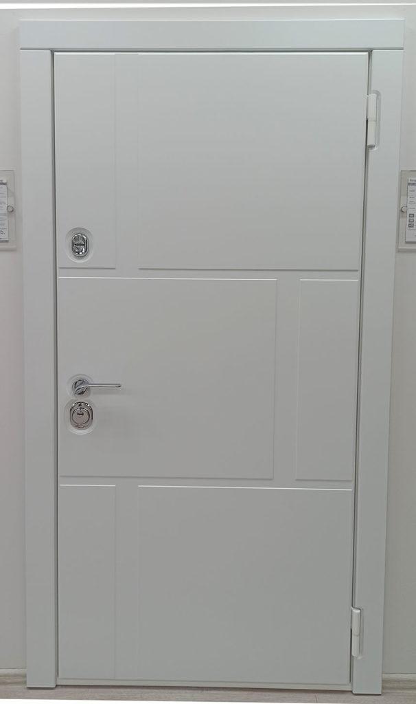 стальная линия входная дверь Н-89 steeltex белый