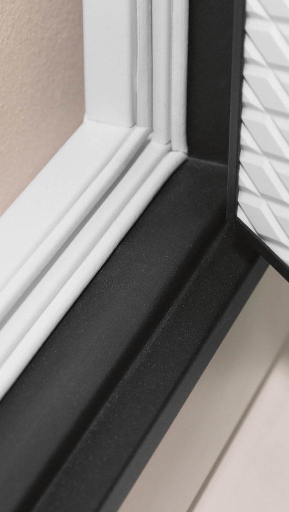 дверная коробка в два цвета стальная линия