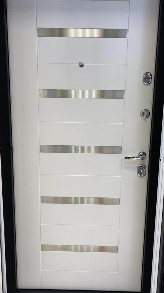 входная дверь миллениум экошпон пломбир рисунок техно-1 стальная линия