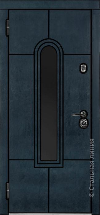 алькор мидл входная дверь в дом с терморазрывом и окном стальная линия бьорк индиго рисунок Н-92
