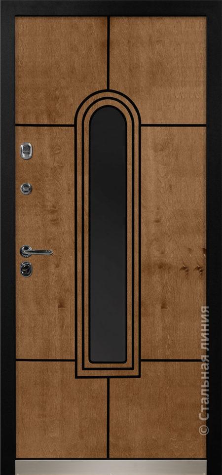 алькор входная дверь в дом с терморазрывом и окном стальная линия бьорк шабо рисунок Н-92