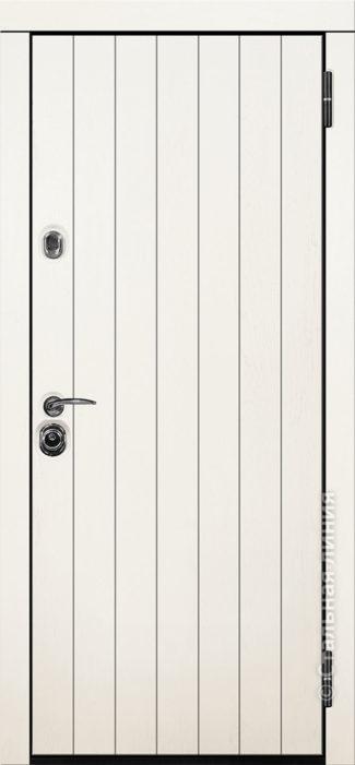 авиор лайт входная дверь для квартиры стальная линия отделка экошпон премиум ясень кремовый рисунок CL-02