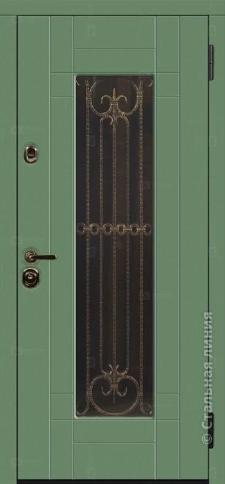 Бенвиль Мидл входная дверь в дом с терморазрывом и стеклопакетом стальная линия