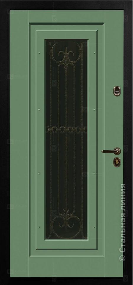 Бенвиль Лайт входная дверь в дом с терморазрывом и стеклопакетом стальная линия
