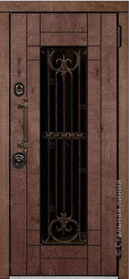 Бенвиль входная дверь в дом с терморазрывом и стеклопакетом стальная линия