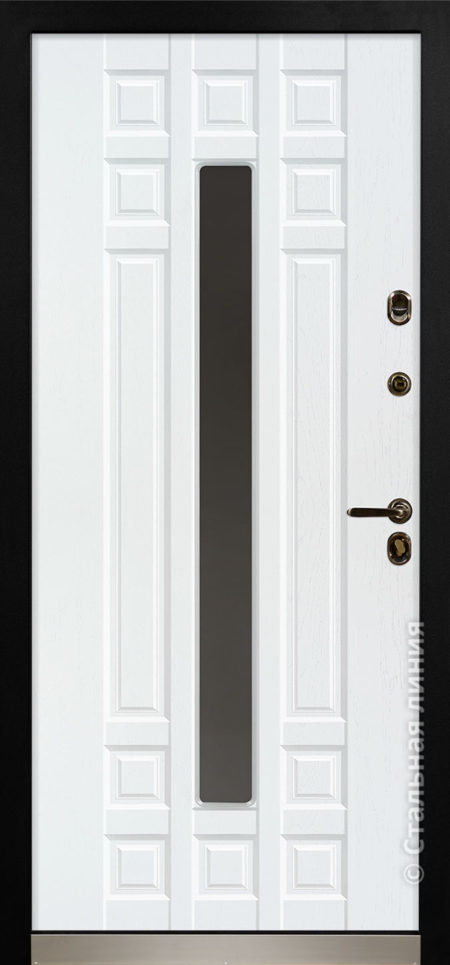 дастан мидл входная дверь стальная линия терморазрыв стеклопакет С2 steellak снежный RAL 9010 рисунок П-59