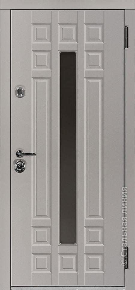 дастан входная дверь стальная линия терморазрыв стеклопакет С2 steellak платиновый серый рисунок П-59