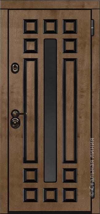 дастан мидл входная дверь стальная линия терморазрыв стеклопакет С2 бьорк эбен рисунок П-59