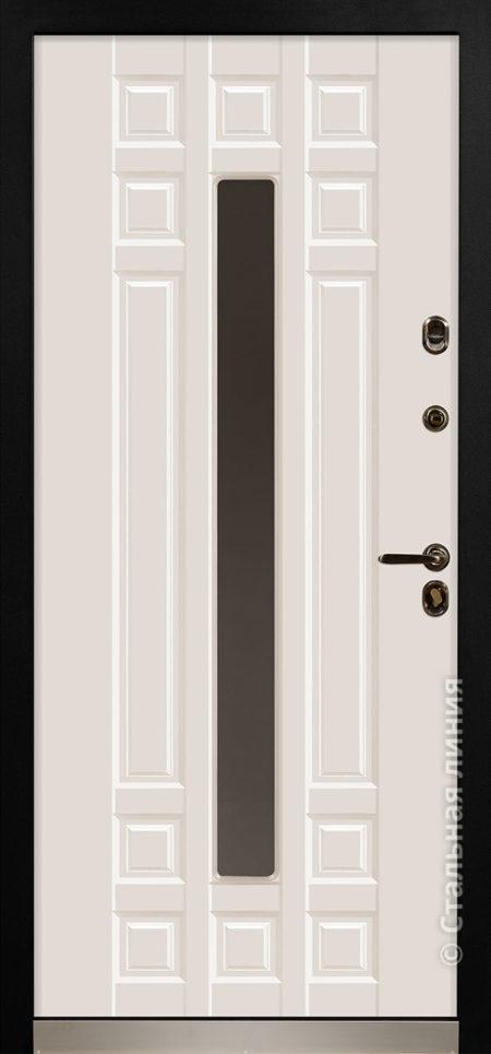 дастан мидл входная дверь стальная линия терморазрыв стеклопакет С2 steellak слоновая кость RAL 9001 рисунок П-59