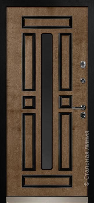 гавана стальная линия входная дверь с терморазрывом и стеклопакетом С2-К бьорк эбен рисунок П-58