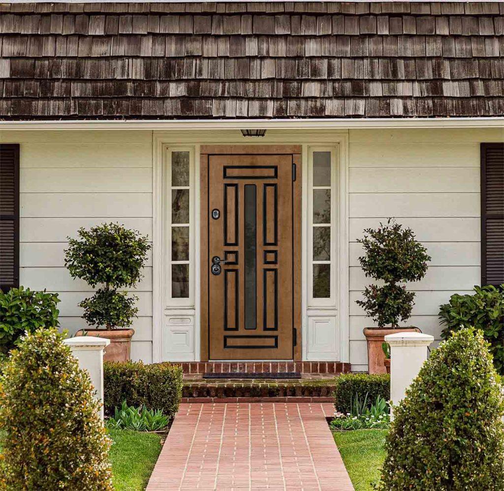 гавана стальная линия входная дверь в дом с терморазрывом и стеклопакетом
