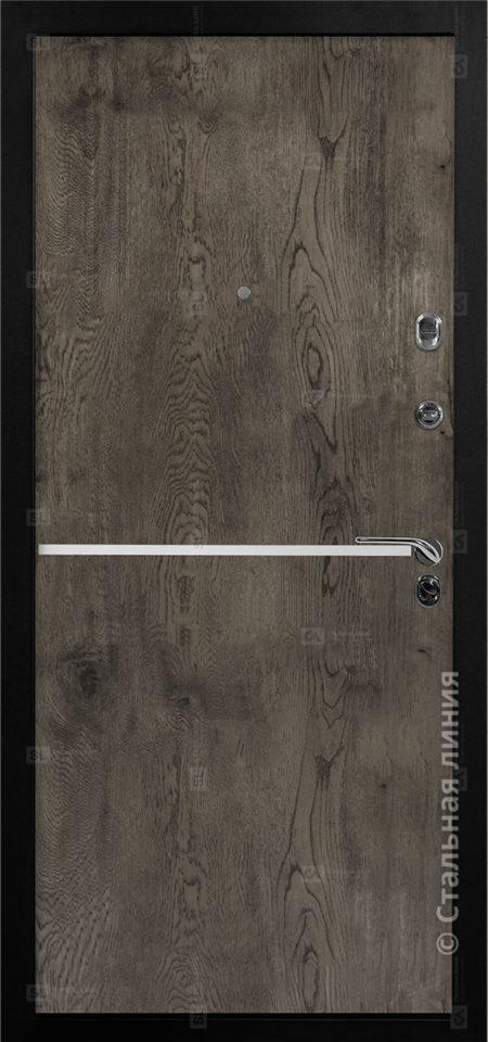 входная дверь лестер стальная линия экошпон премиум дуб йорк серый вставка алюминиевый молдинг рисунок техно-4