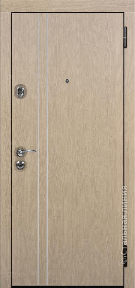входная дверь лестер мидл стальная линия пвх венге светлый вставка алюминиевый молдинг рисунок техно-24