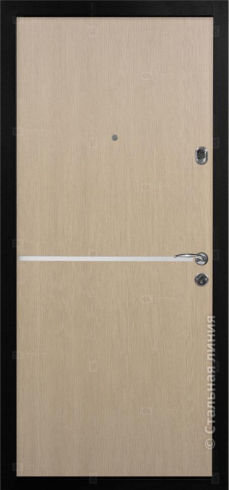 входная дверь лестер мидл стальная линия пвх венге светлый вставка алюминиевый молдинг рисунок техно-4