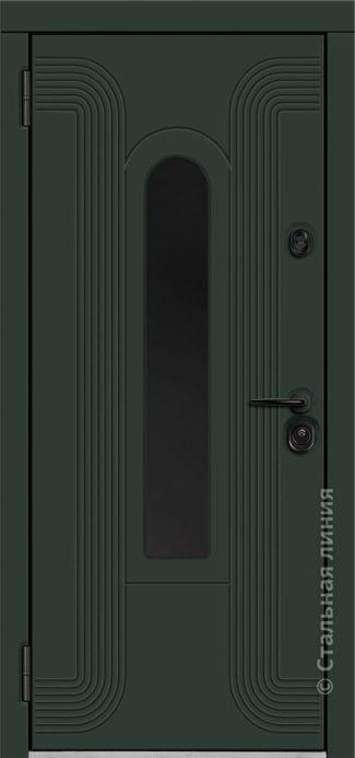 лобренто входная дверь стальная линия терморазрыв стеклопакет окраска steellak рисунок Н-93