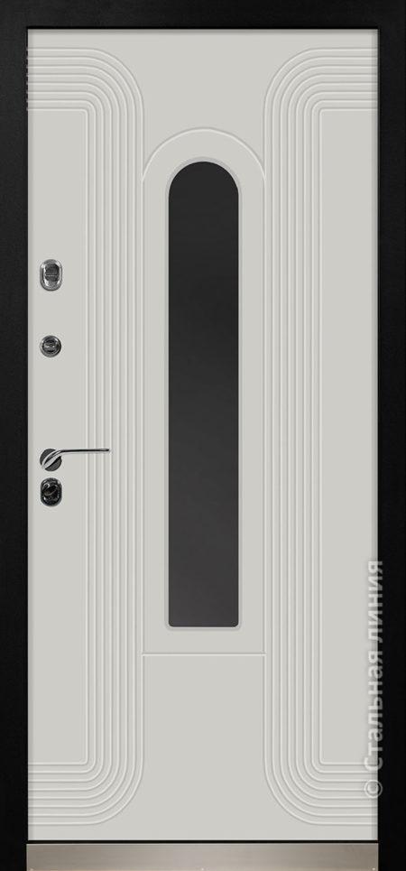 лобренто входная дверь стальная линия терморазрыв стеклопакет окраска steellak платиновый серый рисунок Н-93