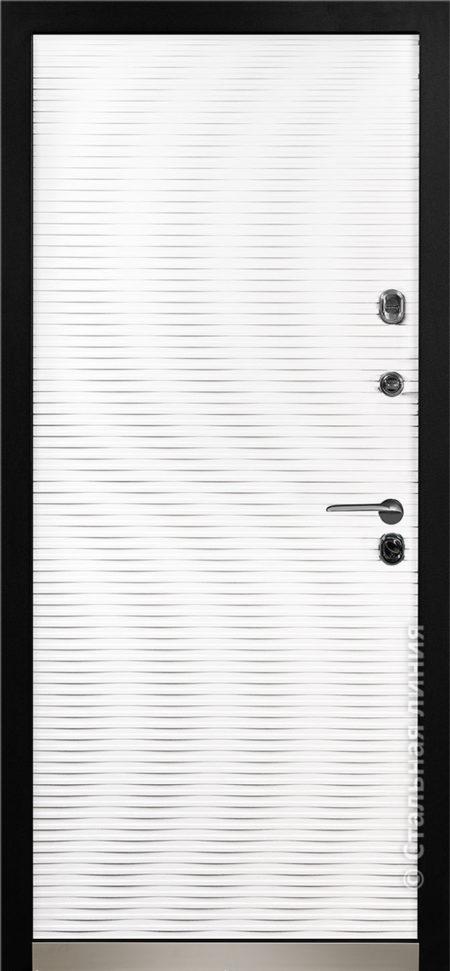входная дверь белая стальная линия мемфис эмаль рисунок cv-02