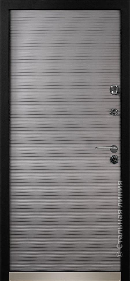 входная дверь серая стальная линия мемфис эмаль рисунок cv-02