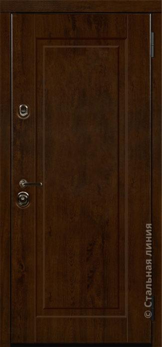 олимпия входная дверь с зеркалом стальная линия steeltex дуб тёмный с патиной рисунок П-48