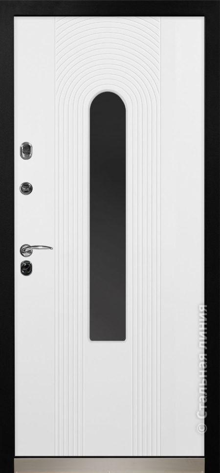 орион входная дверь с терморазрывом и стеклопакетом стальная линия отделка steellak белый стеклопакет Е рисунок Н-94