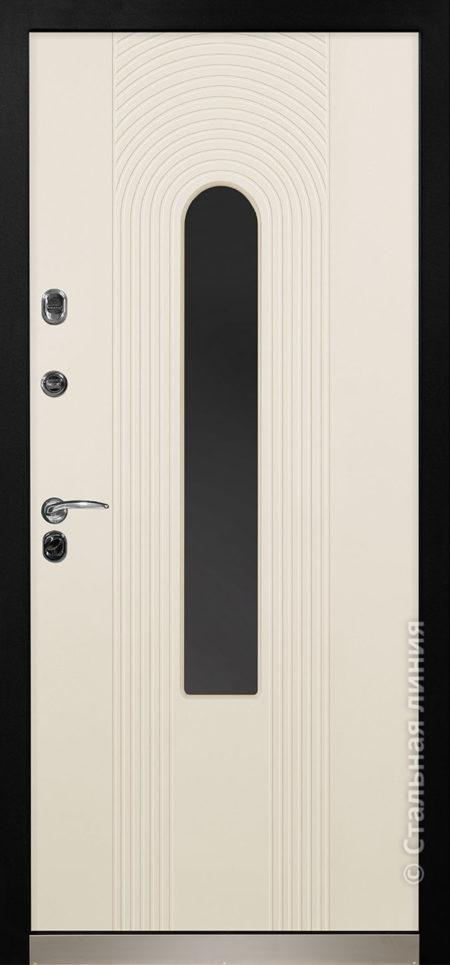 орион мидл входная дверь с терморазрывом и стеклопакетом стальная линия отделка steellak слоновая кость стеклопакет Е рисунок Н-94