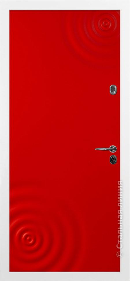 входная дверь сиэтл стальная линия эмаль красная рисунок CV-01