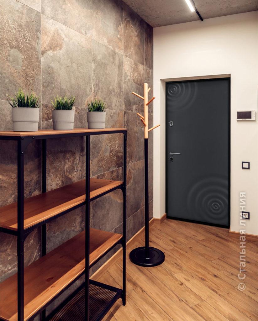 входная дизайнерская дверь сиэтл стальная линия