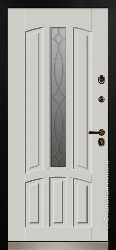 стамбул входная уличная дверь для коттеджа с терморазрывом стеклопакетом ковка стальная линия steellak платиновый серый рисунок П-55