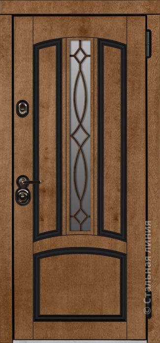 стамбул мидл входная уличная дверь для коттеджа с терморазрывом стеклопакетом ковка стальная линия бьорк шабо рисунок П-54