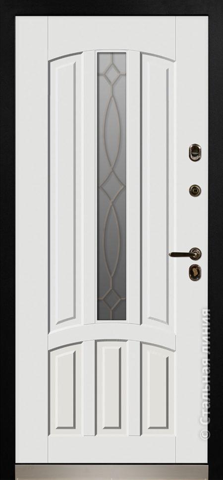 стамбул мидл входная уличная дверь для коттеджа с терморазрывом стеклопакетом ковка стальная линия steellak белый фарфор рисунок П-54