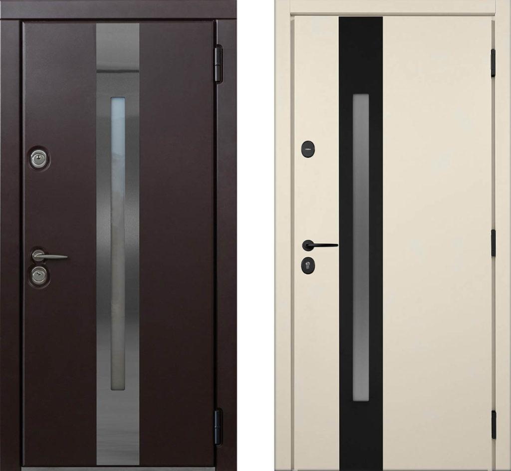 Окна C1 и C1-Z для входных уличных дверей стальная линия