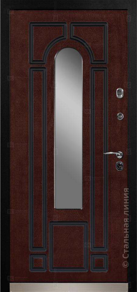 Арабелла Е1 Мидл входная уличная дверь с окном художественная ковка внутри стеклопакета рисунок Н-90