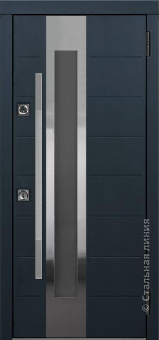 брисбен входная дверь в дом с терморазрывом и стеклопакетом отделка steellak антрацит рисунок C2-Z1