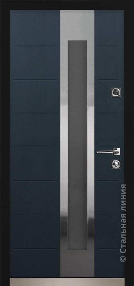 брисбен мидл входная дверь в дом с терморазрывом и стеклопакетом отделка steellak антрацит рисунок C2-Z1