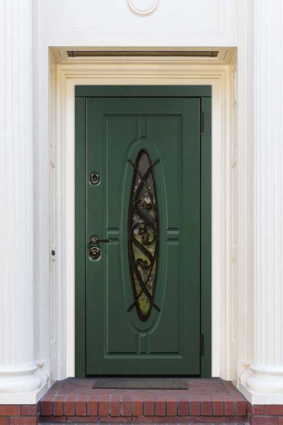 окно Д для входных дверей стальная линия