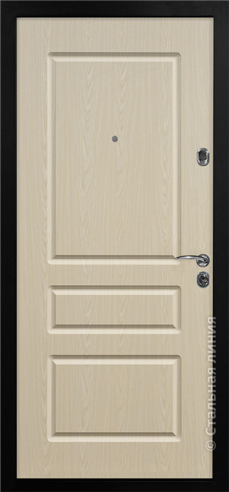 Бобби Мидл входная уличная дверь стальная линия отделка steeltex дуб белёный рисунок Н-60