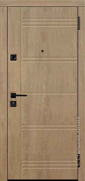 джерси лайт входная дверь стальная линия отделка пвх дуб миндальный рисунок Н-64