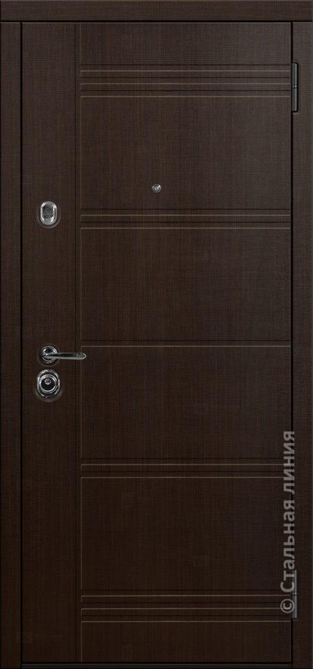 джерси мидл входная дверь стальная линия отделка экошпон венге тёмный рисунок Н-64