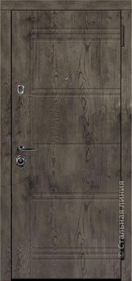 джерси входная дверь стальная линия отделка экошпон премиум дуб йорк серый рисунок Н-64