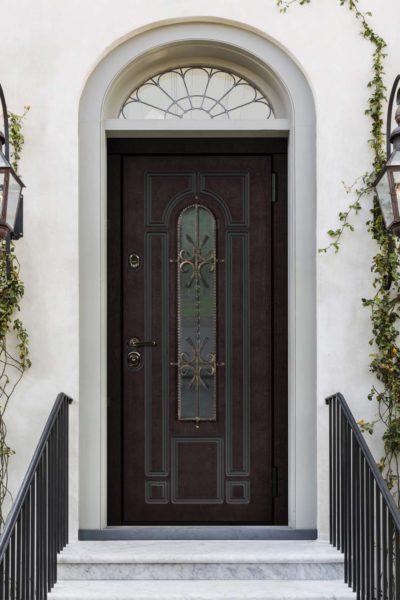 окно Е для входных дверей стальная линия