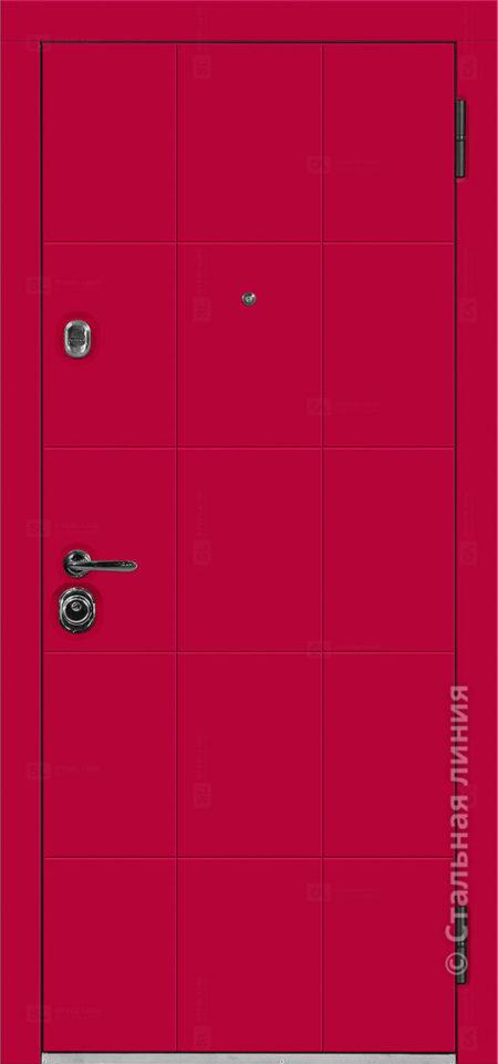 фьеро входная дверь с терморазрывом стальная линия отделка steellak марсала рисунок Н-80