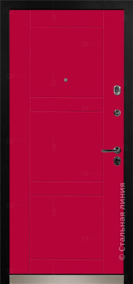фьеро входная дверь с терморазрывом стальная линия отделка steellak марсала рисунок Н-74