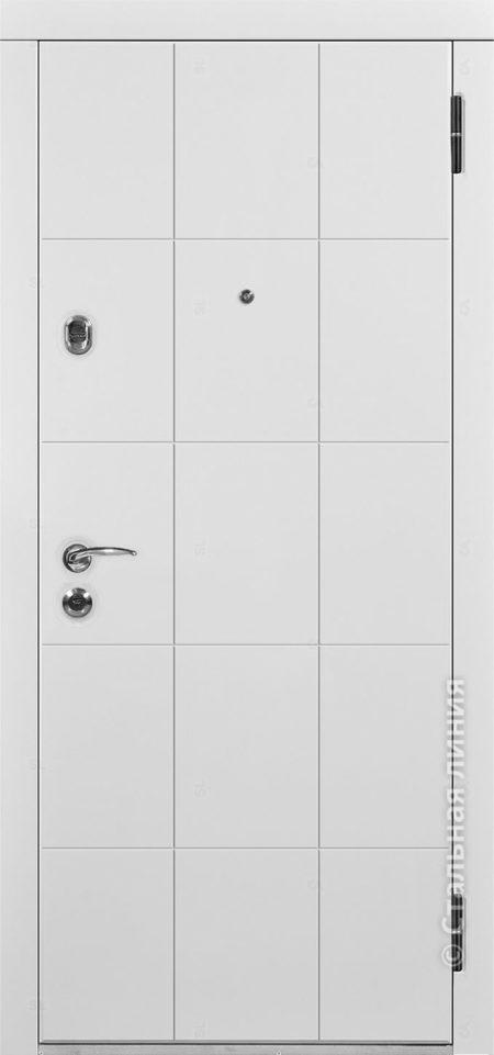 фьеро мидл входная дверь с терморазрывом стальная линия отделка steellak платиновый серый рисунок Н-80