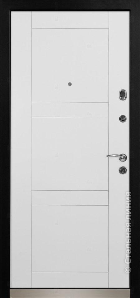фьеро мидл входная дверь с терморазрывом стальная линия отделка steellak платиновый серый рисунок Н-74