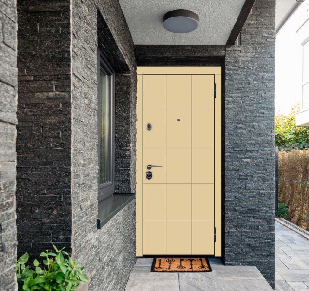 фьеро входная дверь стальная линия steellak капучино